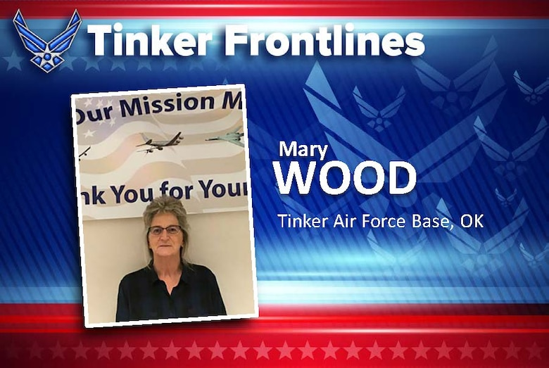 Mary Wood, a jet engine mechanic inspector supervisor in the 76th Propulsion Maintenance Group, has served in the Air Force for 37 years.