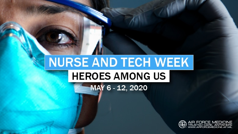 Air Force nurses and medical technicians are answering our nation's call, and now more than ever, during this pandemic, we know they are heroes one and all. (U.S. Air Force graphic)