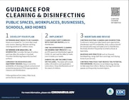 CDC Guidance for Cleaning and Disinfecting