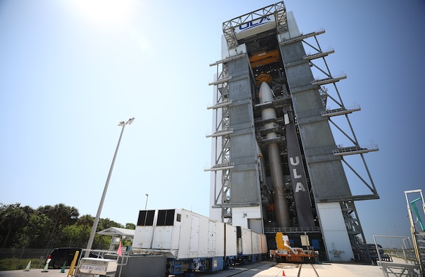 United States Space Force-7 mission, stacked Atlas 5 (Courtesy of United Launch Alliance)