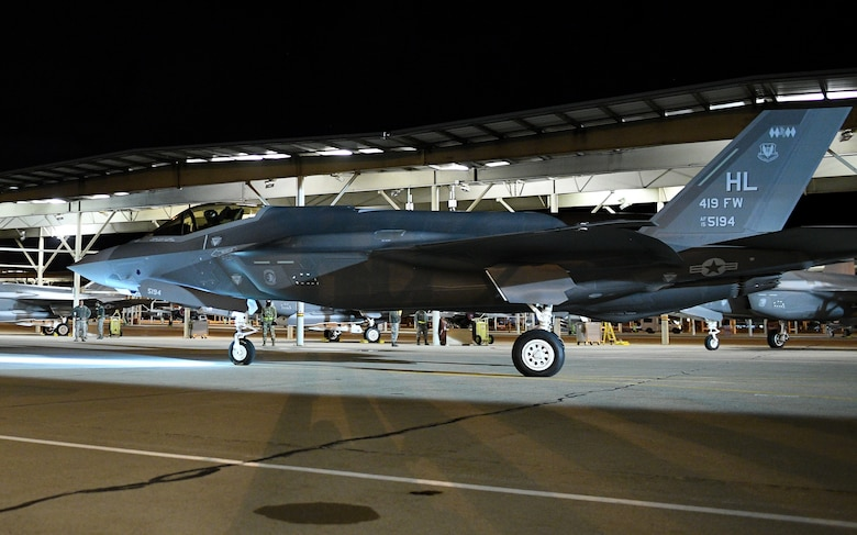 The support provided by Office of Special Investigations Office of Special Projects Detachment 9 ensured 500 F-35 aircraft, like this F-35A deployed to Hill Air Force Base, Utah, were delivered to the Air Force, Marine Corps, Navy and our allies. (U.S. Air Force photo by Ronald N. Bradshaw, 75 ABW/PA)