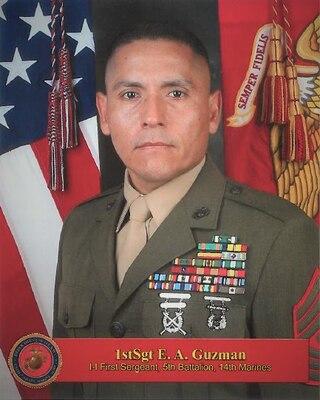Inspector-Instructor First Sergeant, Headquarters Battery, 5th Battalion, 14th Marine Regiment