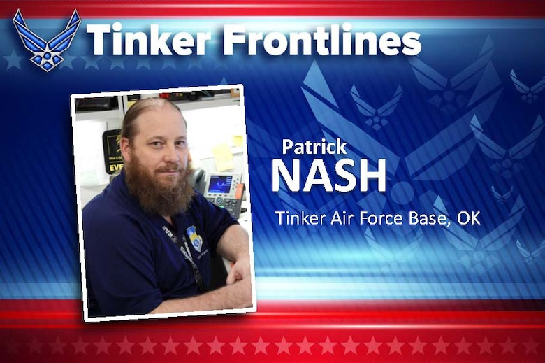 Patrick Nash is the is the lead for the 448th Supply Chain Management Wing's Unit Control Center team, Unit Deployment Manager and security management offices.