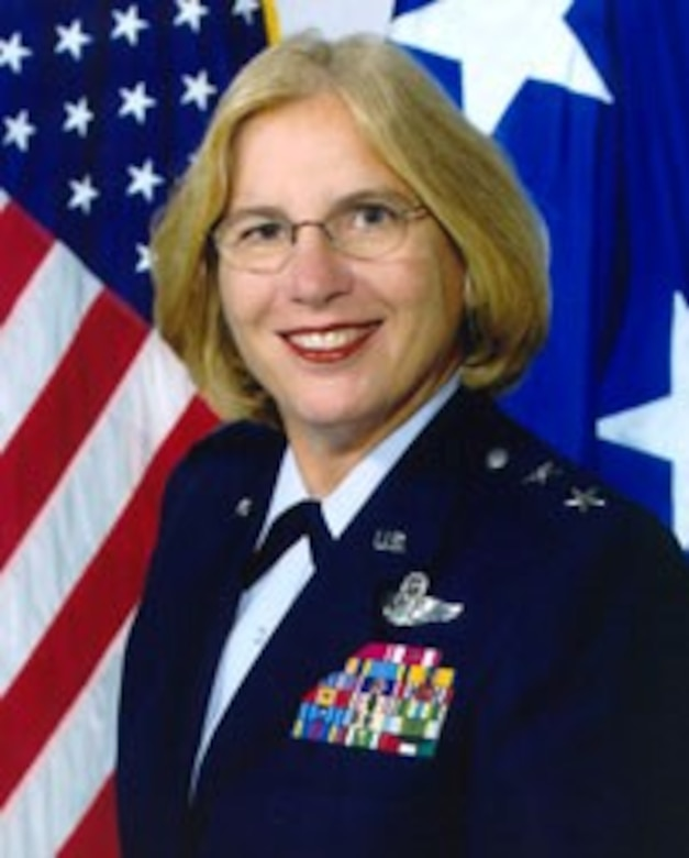 Maj. Gen. Betty L. Mullins smiles for her official photo.