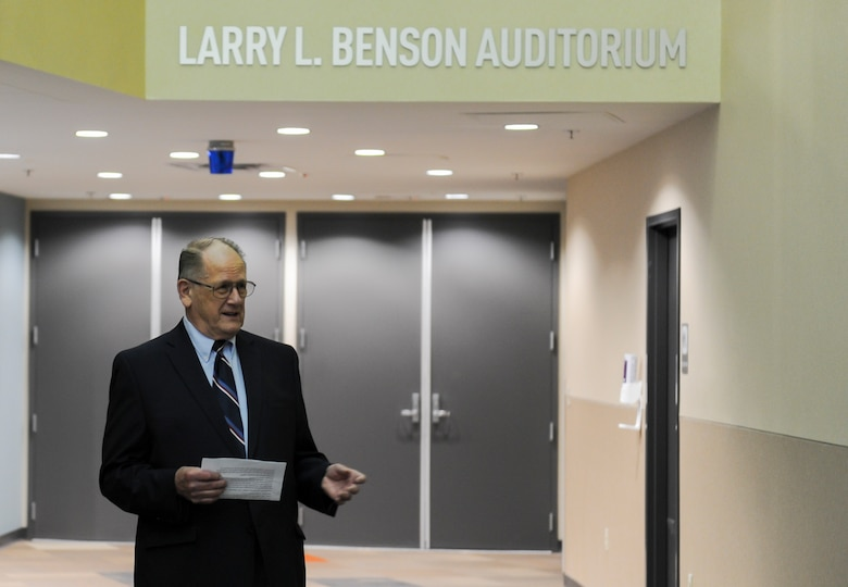 NASIC honors Larry L. Benson with naming of auditorium.
