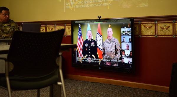 The Arkansas National Guard held a videoconference with key military leaders from Guatemala on COVID-19 best practices and other issues May 6, 2020, as part of the State Partnership Program. The meeting was scheduled in March in Guatemala but was changed to a videoconference due to the coronavirus.