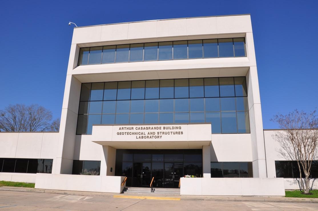 The main building of the Geotechnical and Structures Lab.