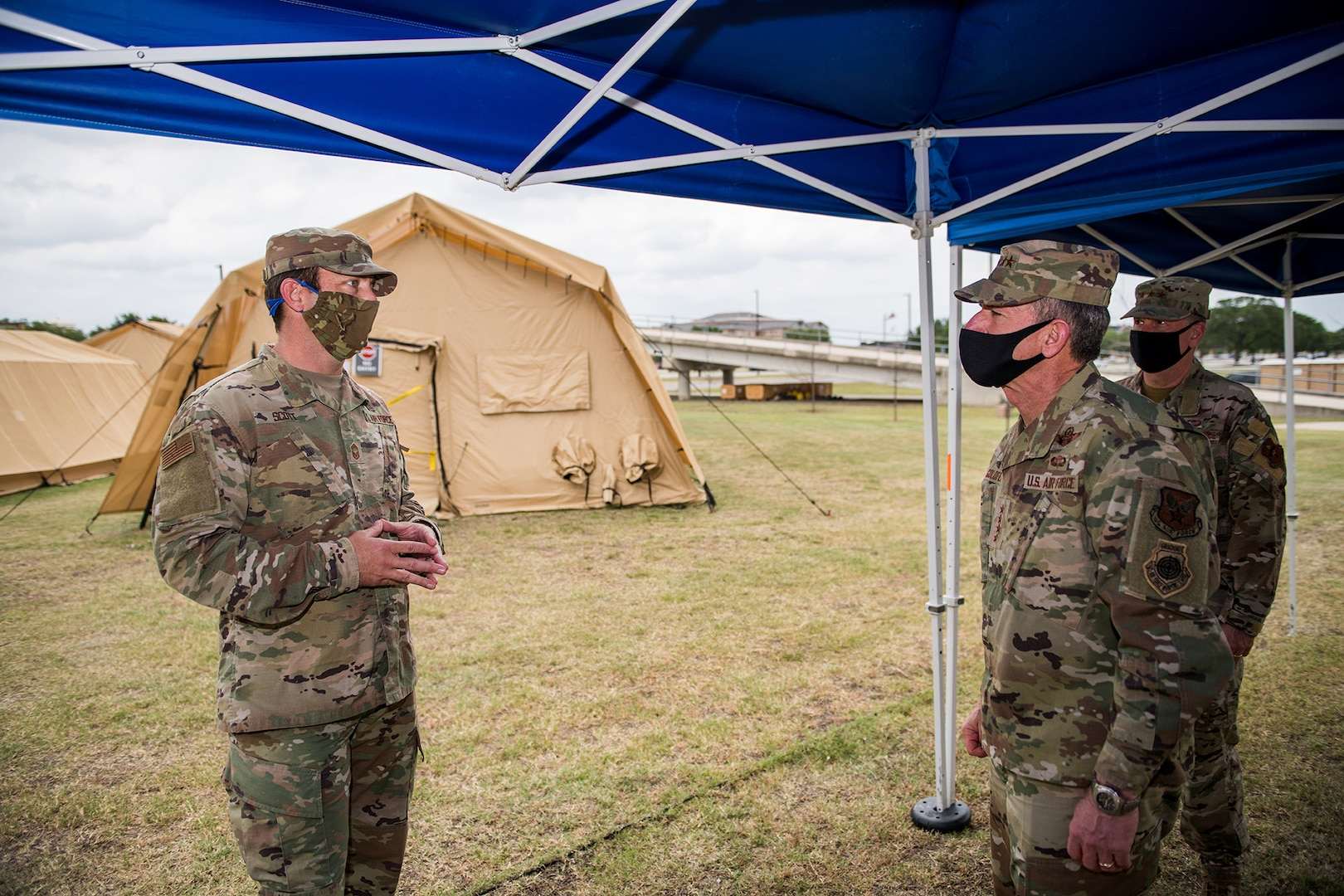 Air Force Chief of Staff Gen. David L. Goldfein visits Reid Clinic May 7, 2020, at Joint Base San Antonio-Lackland, Texas.