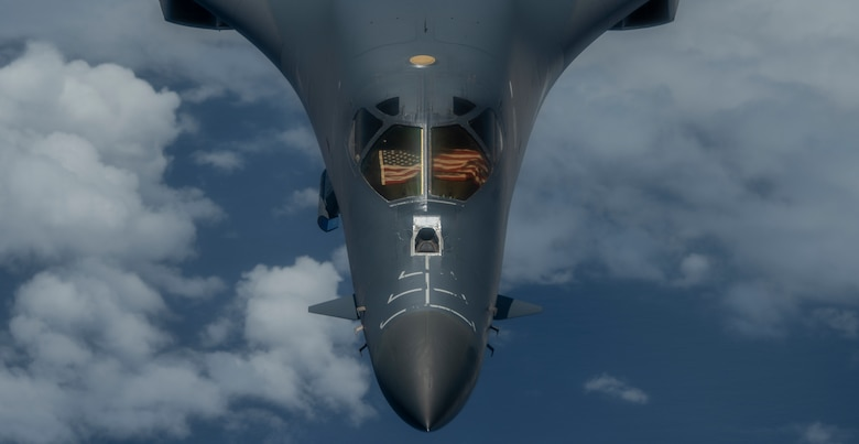 B-1B Lacer conduct training in East China Sea