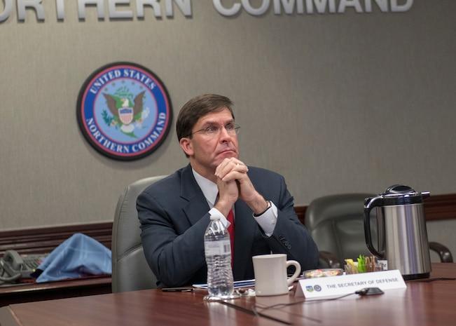Secretary of Defense Mark Esper visit to NORAD and USNORTHCOM
