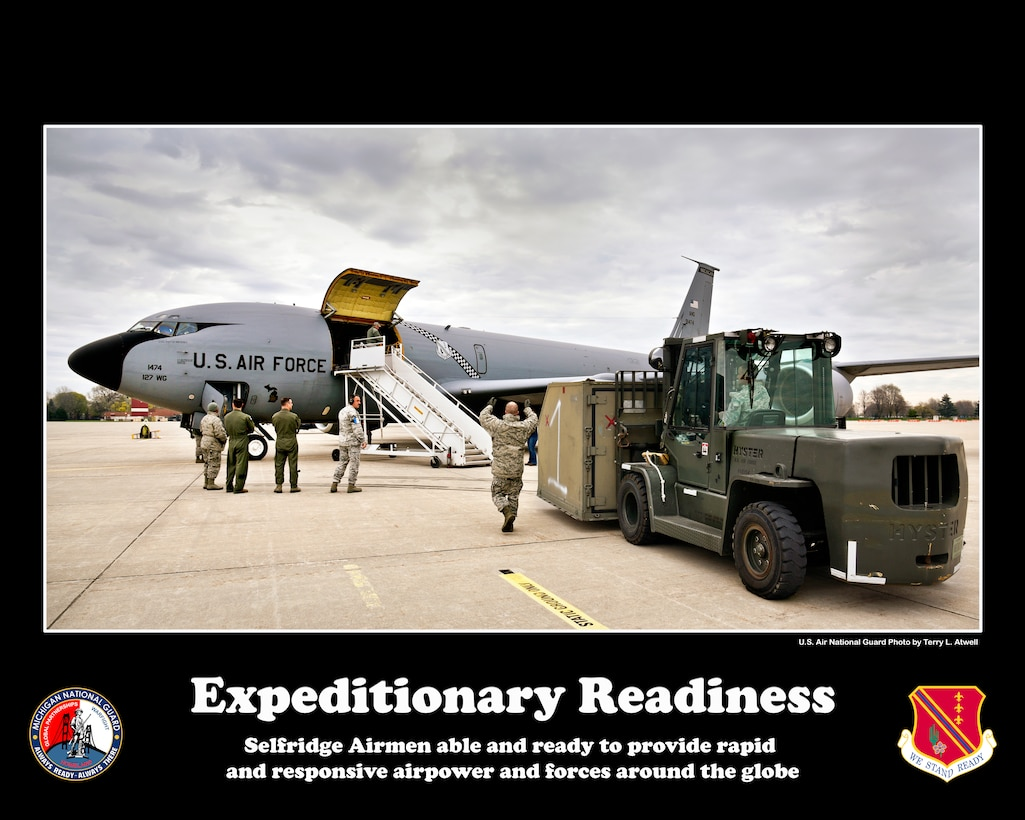 Posters of the 127th Wing Commander's Priorities