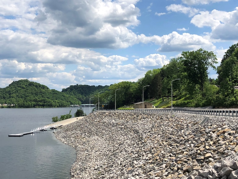 The U.S. Army Corps of Engineers Nashville District announces that Center Hill Recreation Area, located adjacent to Center Hill Dam, is once again open for public use beginning Friday, May 8, 2020.  Center Hill Recreation Area has been closed since 2008 as a result of construction activities related to the Center Hill Dam Rehabilitation Project. (USACE photo by Bailey Carter)