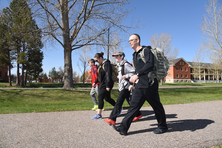 Chief Bayes and family on ruck march