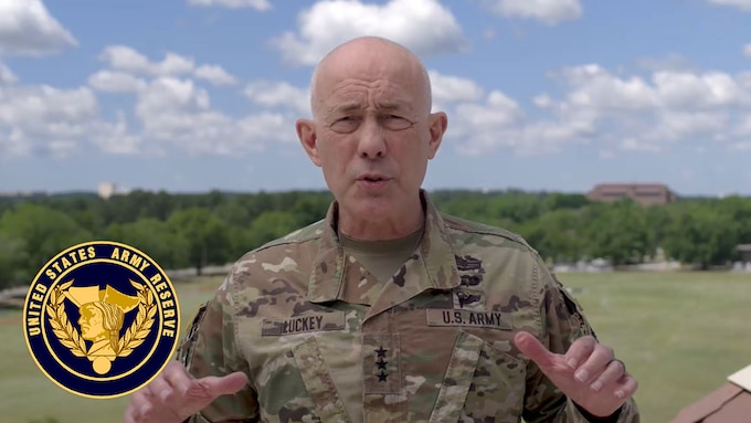 Lt. Gen. Charles D. Luckey, chief of Army Reserve and commanding general, U.S. Army Reserve Command, gives an assessment of the past 30 days, during which newly formed Urban Augmentation Medical Task Forces have been deployed across the country. Soldiers within America's Army Reserve are part of a historic effort by providing medical assistance, sustainment operations and other capabilities in the fight against COVID-19.