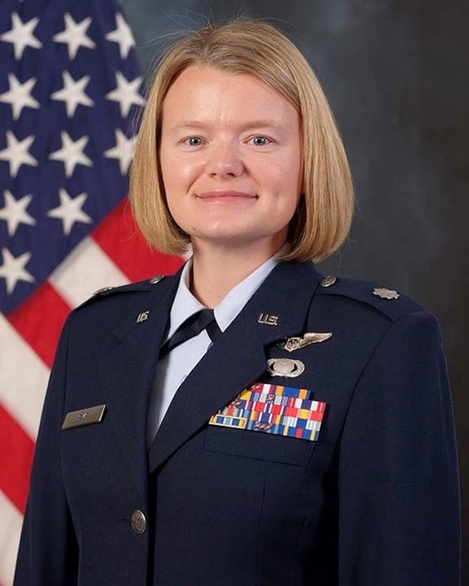 Official Photo of Lt. Col. Carly Sims, 605 TES Commander
