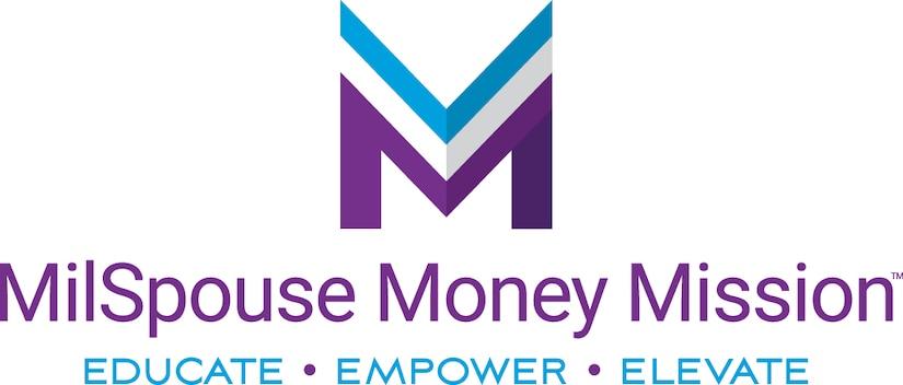 A wordmark reading: MilSpouse Money Mission, Educate, Empower, Elevate.