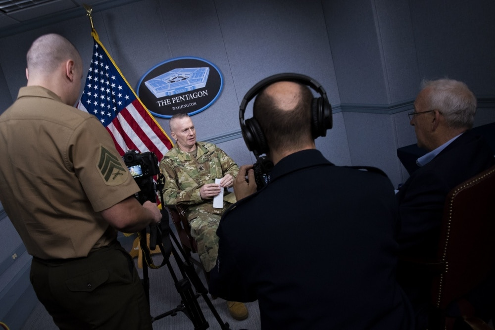 Chairman's Senior Enlisted Advisor Sits for DMA Interview