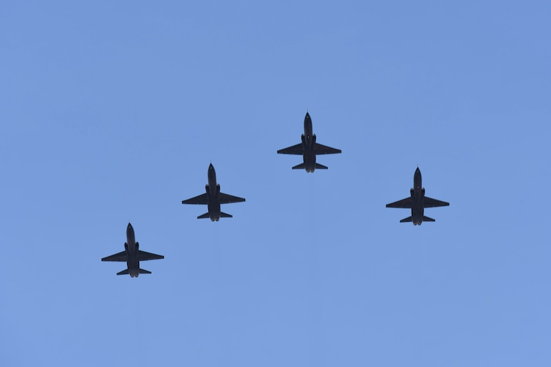 U.S. Air Force T-38A Talons assigned to the 9th Reconnaissance Wing at Beale Air Force Base, California, fly over David Grant USAF Medical Center during an Operation American Resolve flyover May 9, 2020, at Travis Air Force Base, California. The flyover saluted healthcare workers and first responders in Northern California cities impacted by COVID-19. (U.S. Air Force photo by Airman 1st Class Cameron Otte)