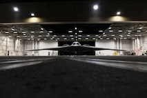A B-2 Spirit Stealth Bomber, assigned to Whiteman Air Force Base, prepares to support of U.S. Strategic Command strategic presence operations at Whiteman AFB, Missouri, May 7, 2020. U.S. Strategic Command routinely conducts strategic presence operations across the globe as a demonstration of U.S. commitment to collective defense and to integrate with Geographic Combatant Command operations and activities. These missions also familiarize aircrews with air bases, procedures, and operations in different Geographic Combatant Commands areas of operations.