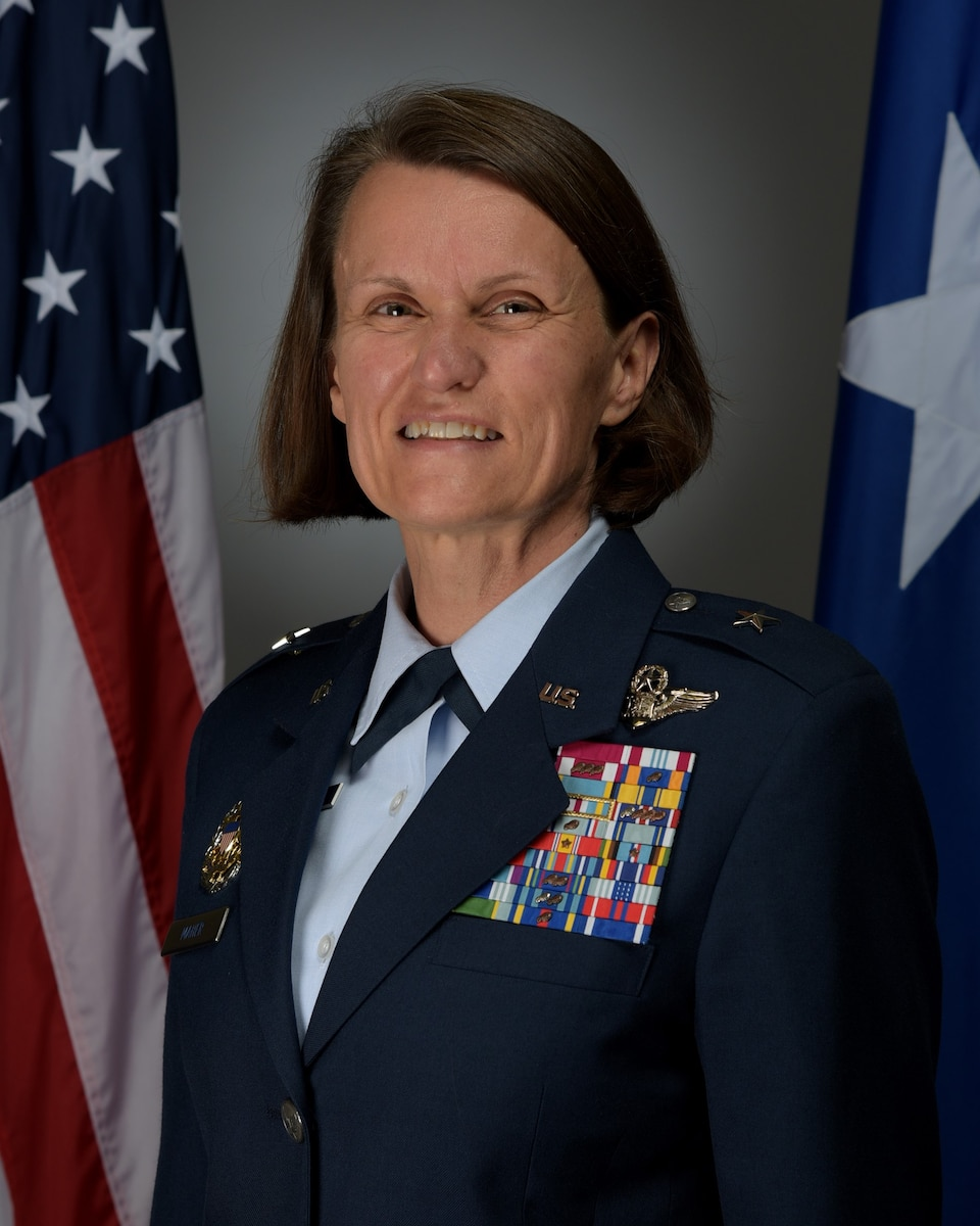 This is the official portrait of Brig. Gen. Leslie A. Maher.