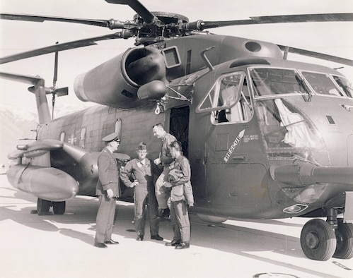 The 1550th Aircrew Training and Test Wing trained pilots to fly the Sikorsky HH-53C Super Jolly helicopter at Hill AFB from 1973 until the unit relocated to Kirtland AFB, New Mexico, in 1976.