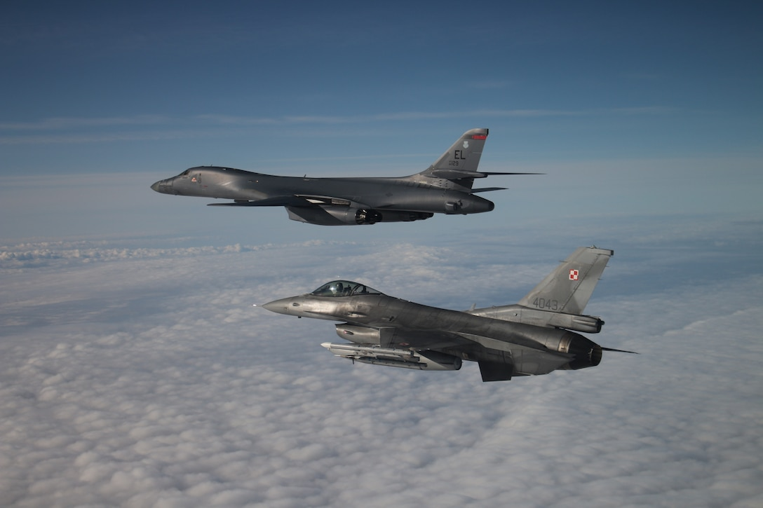 Ellsworth AFB B-1s return to European theater as part of latest BTF mission