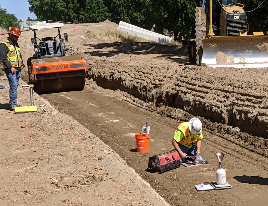 Construction progress on our 2020 Sacramento River East Levee Contract 1 work.