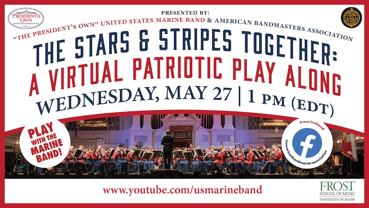 Postcard for The Stars and Stripes Together: A Virtual Play Along