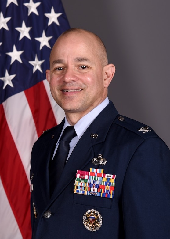 Official photo of Colonel Andres R. Nazario, 17th Training Wing Commander