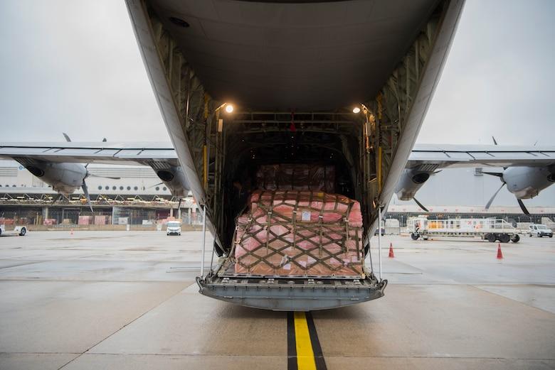 cargo enters plane