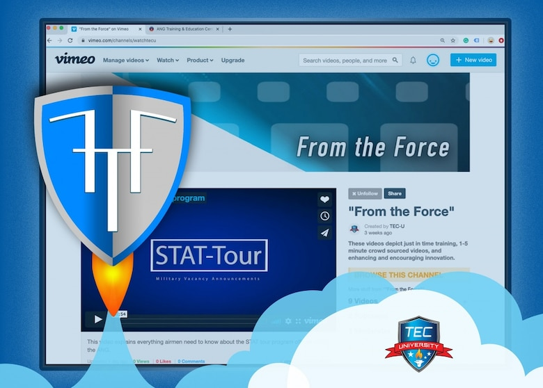 TEC University announced the launch of its From the Force on-demand video platform assessable online May 22, 2020. (U.S. Air National Guard graphic/Master Sgt. Mike R. Smith)