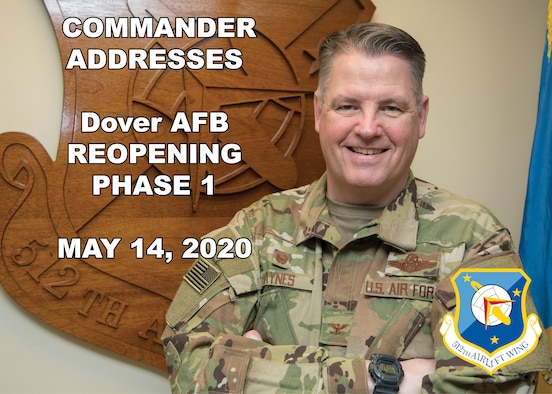 Commander addresses the reopening of Dover Air Force Base