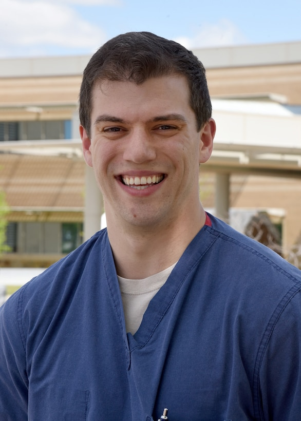 1st Lt. James Dillard, a certified physician's assistant with the 72nd Operational Medical Readiness Squadron, has served in the U.S. Air Force for one year.