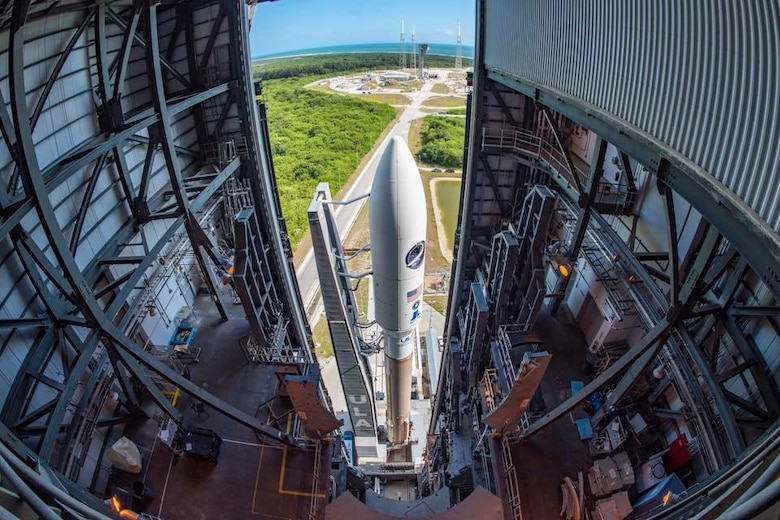 USSF-7 Rolls to Pad Ahead of Launch
