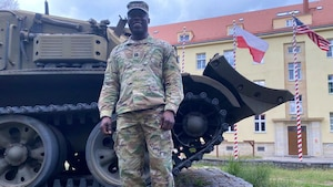 American Soldier with Nigerian Roots Support Blackjack Forward