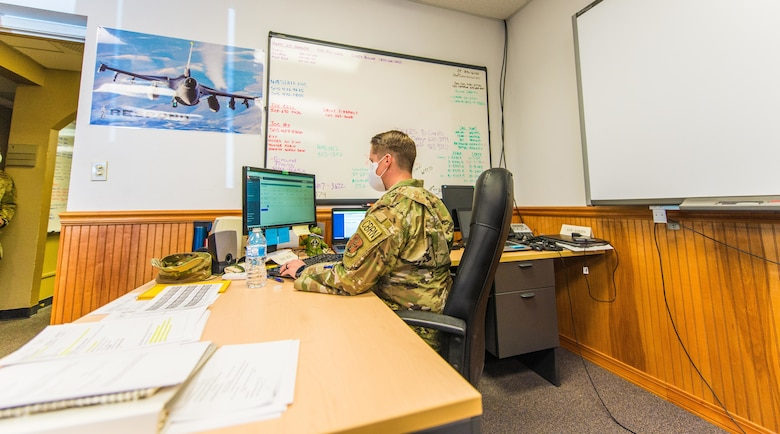 The Unit Command Centers for the 150th Special Operations Wing and the 210th RED HORSE Squadron are coordinating more than 200 New Mexico National Guard Airmen in support of the New Mexico Joint Task Force state mission during the COVID-19 pandemic.