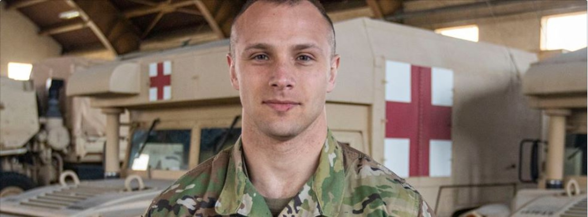 Capt. Benjamin Hagstron, medical officer for Joint Task Force 197, is the lead planner for the state's one mobile and six COVID-19 drive-thru testing sites.
