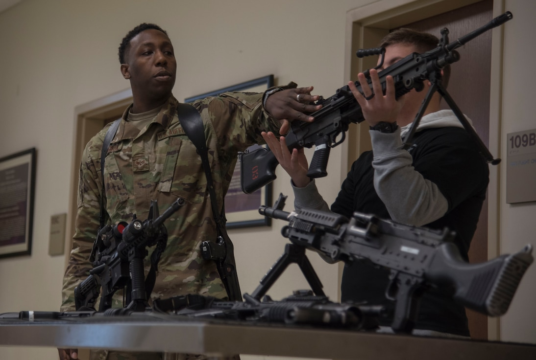 Security Forces Airman teaches weapons safety