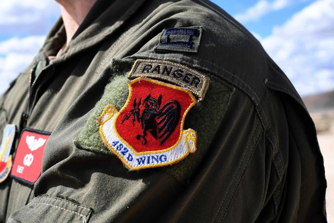 Ranger tab is displayed on MQ-9 Reaper pilot uniform alongside 432nd Wing patch