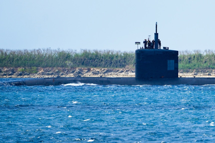 USS Asheville (SSN 758) transits Apra Harbor as part of regularly scheduled operations in the Indo-Pacific area of operations.