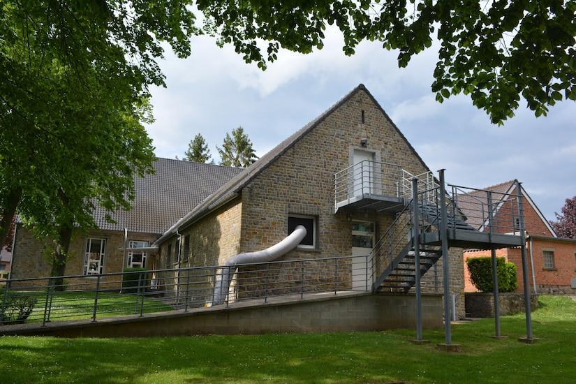 A chapel building at Caserne Daumerie.