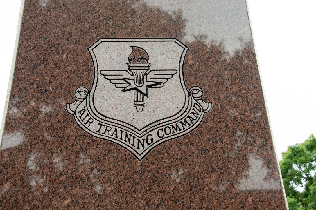 A close-up picture of the Air Training Command logo.