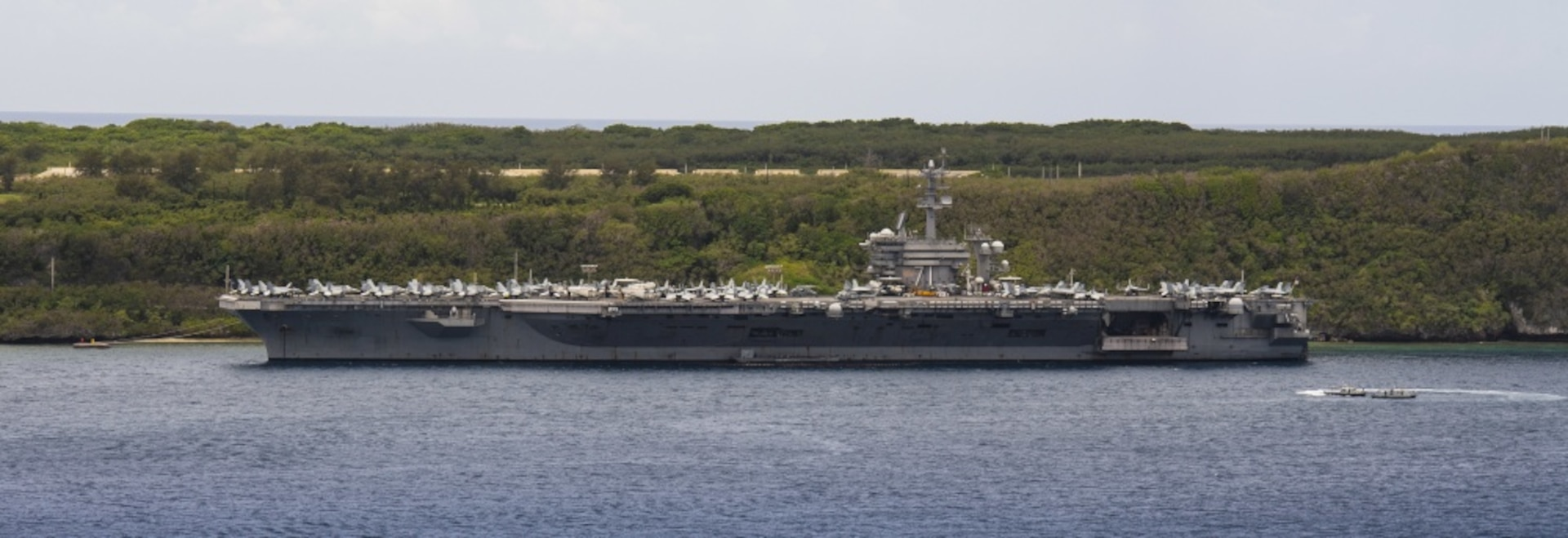 USS Theodore Roosevelt Conducts Fast Cruise in Guam