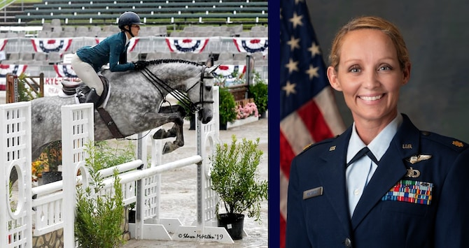 Photo of Maj. Andrea D. Matesick, Air Force 2019 Female Athlete of the Year.