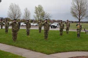 Defenders salute