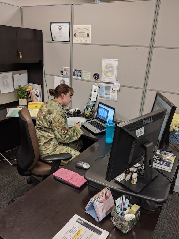 Airmen participate in USAFSOS distance learning on May 7, 2020. As the entire world faces the full force of the COVID-19 pandemic, U.S. Air Force Special Operations Command School has not only increased their overall education output but also has switched to entirely remote learning to accommodate all Special Operations Forces students, world-wide.