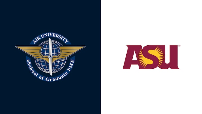 Air University partnered with Arizona State University, one of America's leading public research universities with advanced learning and support systems, to transform the distance learning experience for Air Force officers and civilians worldwide. This is the first time a U.S. military service utilized a civilian university partner to enable the delivery of officer PME.