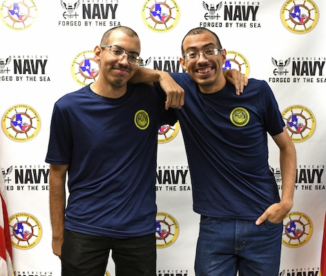 Twin brothers join Navy