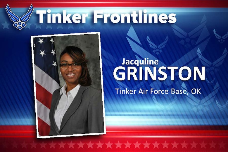 """Jacquline """"Jae"""" Grinston is a training specialist in the 72nd Force Support Squadron."""
