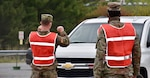 About 10 Soldiers from the Maryland Army National Guard's 115th Military Police Battalion began supporting the first state-sponsored, community-based COVID-19 testing site May 14, 2020, at the Carroll County Agriculture Center in Westminster, Maryland.